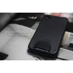 SGP Leather Case illuzion Series for iPhone 4, 4S [Legend Black] (SGP06827S)